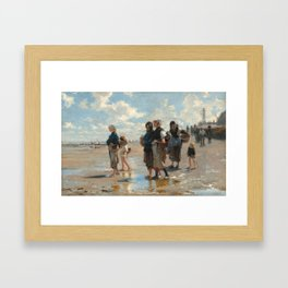 Setting Out to Fish Oil Painting by John Singer Sargent Framed Art Print