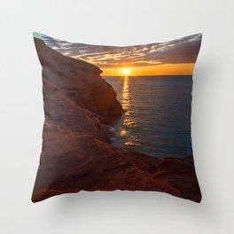 Seacow Head Sunset Throw Pillow
