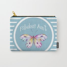 Fabulous Aunt Butterfly Gifts Carry-All Pouch