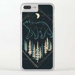 Heaven's Wild Bear Clear iPhone Case