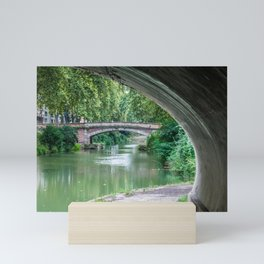 Foreshortening in the historical town of Toulouse, southern France Mini Art Print