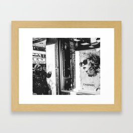 Sunglass Ladys Framed Art Print