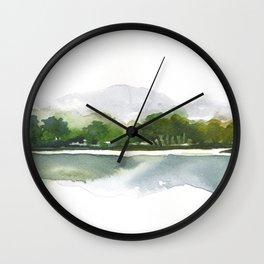 Summer landscape painting Wall Clock