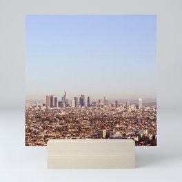 Downtown Los Angeles Skyline - Los Angeles Iconic Mini Art Print