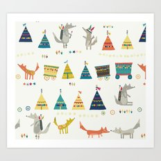 Wolf Pattern Art Print