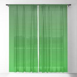 Green Ombré Gradient Sheer Curtain