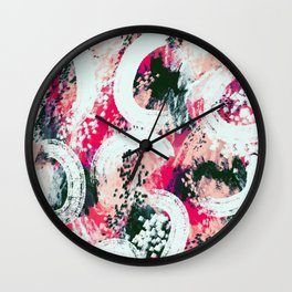 Scarlett abstract Wall Clock