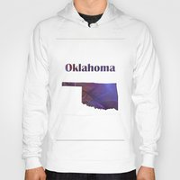 oklahoma Hoodies featuring Oklahoma Map by Roger Wedegis