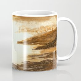 Golden Morn, Watercolor Beach Art Coffee Mug