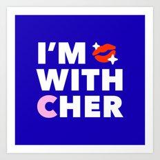#ImwithCher Logo #1 Art Print