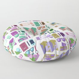Traveling Icons Floor Pillow