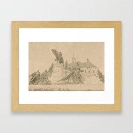 Mathias Rex Cluj Napoca Koloszvar Framed Art Print