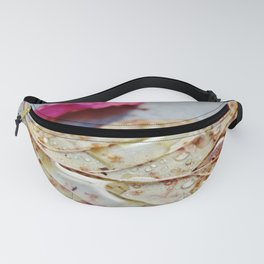 Water drops on leaf Fanny Pack