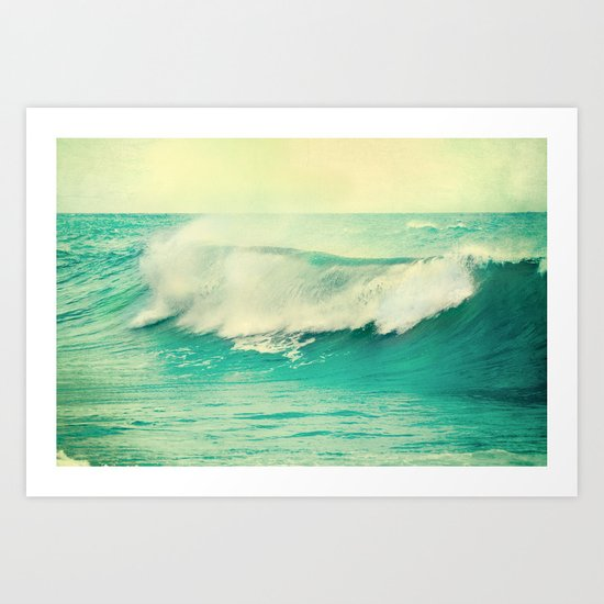 The force of the waves Art Print