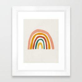 Rainbow, Mid century modern kids wall art, Nursery room Framed Art Print