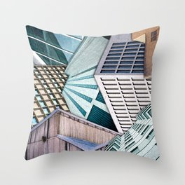 City Buildings Abstract Throw Pillow