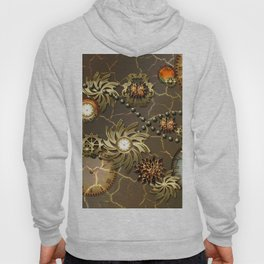 Steampunk golden design Hoody