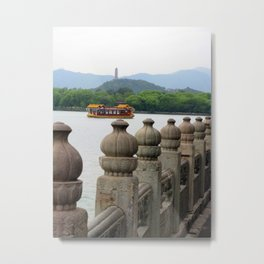 Dragon Boat to the Summer Palace Metal Print