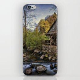Autumn Water Wheel iPhone Skin