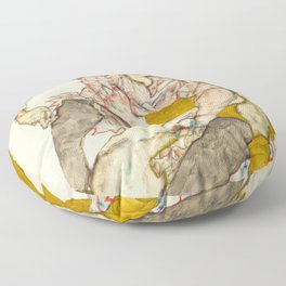 "Egon Schiele ""Seated Couple"" Floor Pillow"
