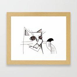 Chinaski the Cat Framed Art Print