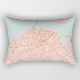 Auckland map, New Zealand Rectangular Pillow