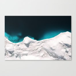 Minimalistic Iceberg in the clear blue Ocean - Landscape Photography Canvas Print
