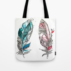 You & Me Feathers Tote Bag