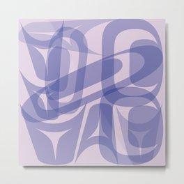 Abstract Formline Purple 2 Metal Print