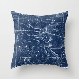 Taurus sky star map Throw Pillow