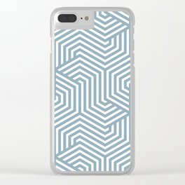 Pewter Blue - heavenly - Minimal Vector Seamless Pattern Clear iPhone Case