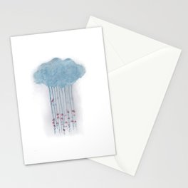 Rain in the woods Stationery Cards