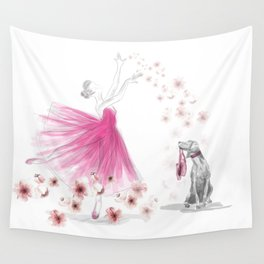 DANCE OF THE CHERRY BLOSSOM Wall Tapestry