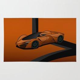 racing super car Rug