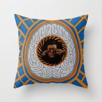 brain Throw Pillows featuring Brain by Canson City