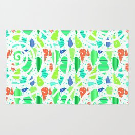 Abstract leafy pattern Rug