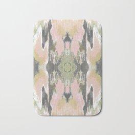 Pattern in Pale Pink & Grey Bath Mat