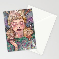 Bubble girl Stationery Cards