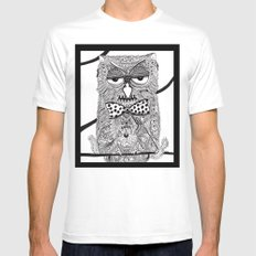 Owl 21516 Mens Fitted Tee White SMALL