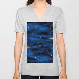 Space nebula background. Unisex V-Neck