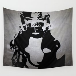 Don't Ride Without A Helmet Wall Tapestry