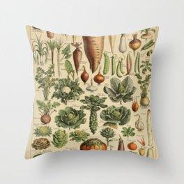Vegetable Chart Throw Pillow