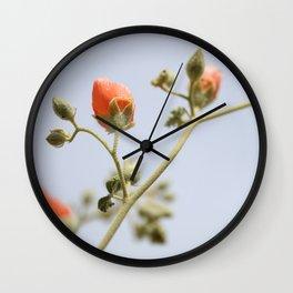 Orange & Blue & Green (Super Bloom) Wall Clock