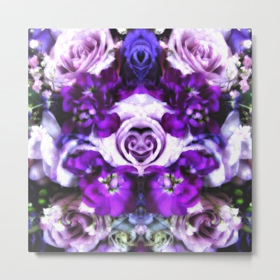 purple pink flowers Metal Print