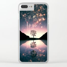 Fireworks on the Lake Artpiece Clear iPhone Case
