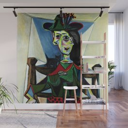 Dora Maar au Chat by Pablo Picasso Wall Mural