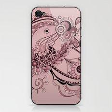 Spring tangle, plum pink iPhone & iPod Skin