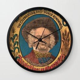 Vaudeville Poster Wall Clock