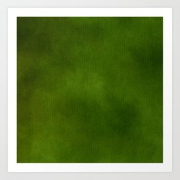 Green Color Velvet Art Print