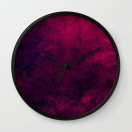 Grunge Pink Wall Clock